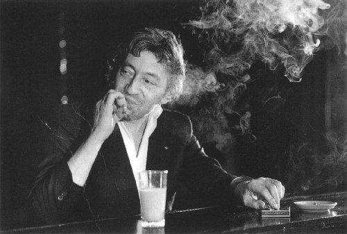 Serge Gainsbourg smoking
